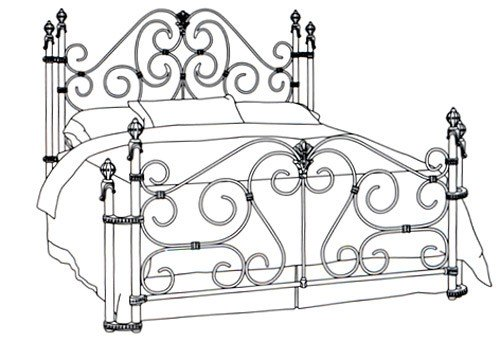 Wesley Allen Queen Bed Return Posts