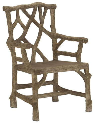 Currey & Company Woodland Arm Chair - Set of 2