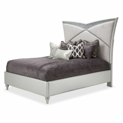 AICO Melrose Plaza Queen Upholstered Bedroom Set by Michael Amini