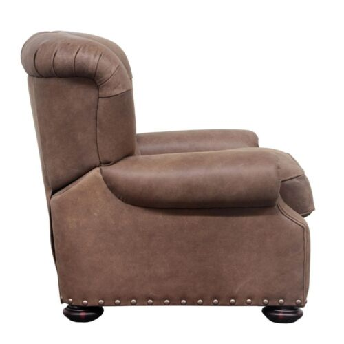 Barcalounger Vintage Edwin Leather Recliner in Wenlock Double Chocolate