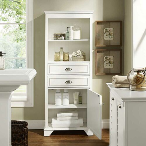 Crosley Lydia Tall Cabinet in White