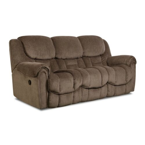 HomeStretch Del Mar 3 Piece Power Reclining Living Room Set in Taupe