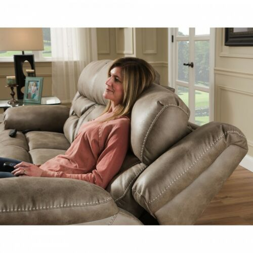 HomeStretch Enterprise 3 Piece Living Room Set with Power Headrest and Power Lumbar Foot Extension in Mushroom