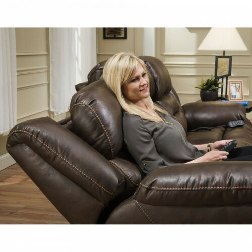 HomeStretch Enterprise 3 Piece Living Room Set with Power Headrest and Power Lumbar Foot Extension in Walnut