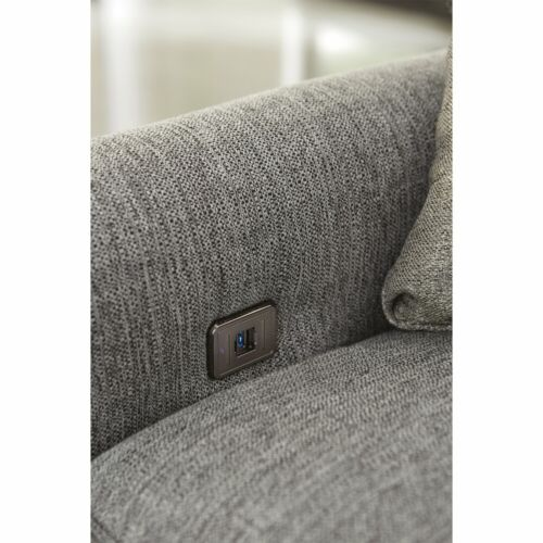 Jackson Ava Sofa with USB port in Pepper