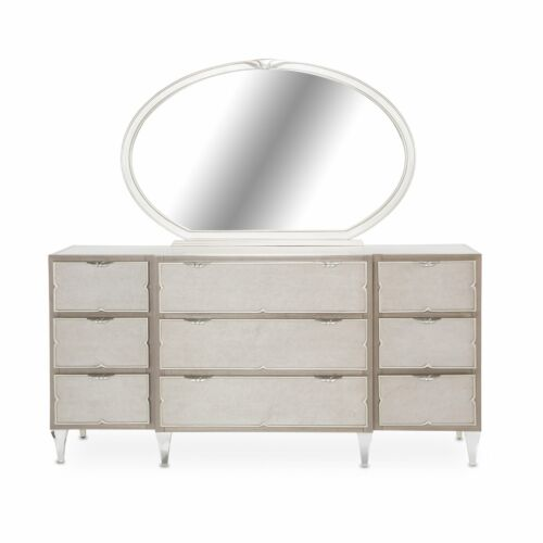 AICO Camden Court Dresser and Mirror by Michael Amini + Jane Seymour Living