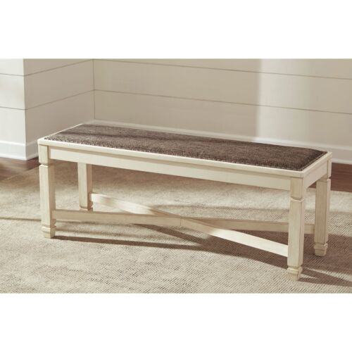 Signature Design by Ashley Bolanburg Large Upholstered Dining Room Bench
