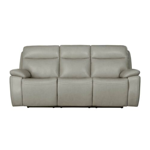 Barcalounger Micah Leather Match Sofa with Power Recline and Power Headrests - Venzia Cream