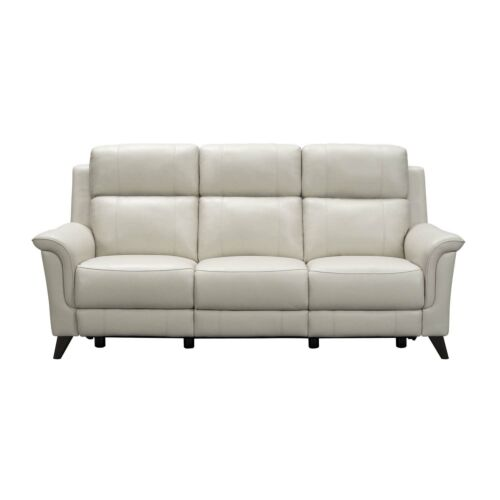 Barcalounger Kester Leather Match Sofa with Power Recline and Power Headrests - Laurel Cream