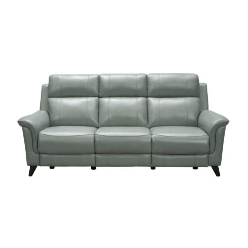 Barcalounger Kester Leather Match Sofa with Power Recline and Power Headrests - Lorenzo Mint
