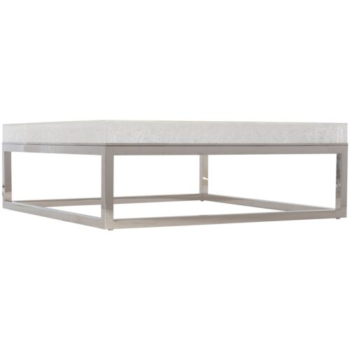 Bernhardt Interiors Arctic Cocktail Table in Silver
