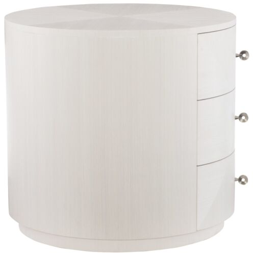 Bernhardt Axiom Round Chairside Table in Linear White