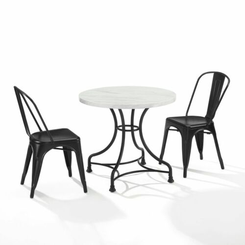 Crosley Madeleine 32 Inch 3 Piece Dining Set with Amelia Chairs