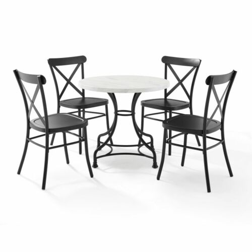 Crosley Madeleine 32 Inch 5 Piece Dining Set with Camille Chairs