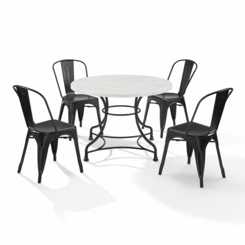 Crosley Madeleine 40 Inch 5 Piece Dining Set with Amelia Chairs