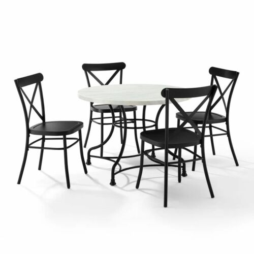 Crosley Madeleine 40 Inch 5 Piece Dining Set with Camille Chairs