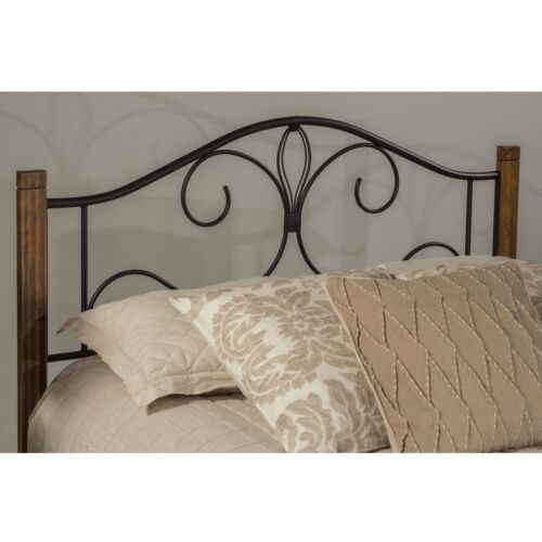 Hillsdale Furniture Destin Full Metal Bed with Oak Posts