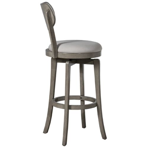 Hillsdale Furniture Sloan Swivel Counter Height Stool in Aged Gray