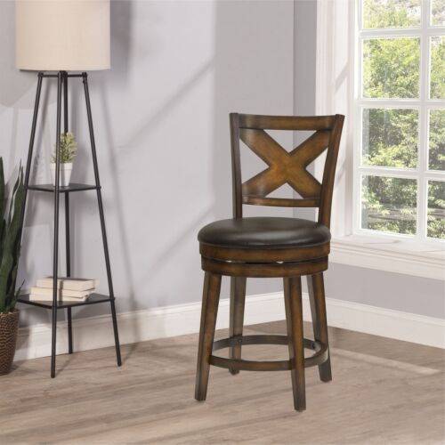 Hillsdale Furniture Sunhill Swivel Counter Height Stool in Rustic Oak