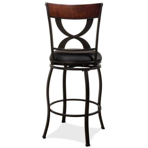 Hillsdale Furniture Stockport Swivel Bar Height Stool in Pewter