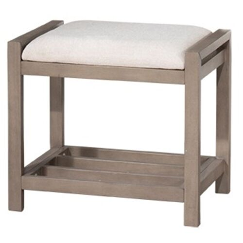 Hillsdale Furniture Amelia Vanity Stool in Antique Gray