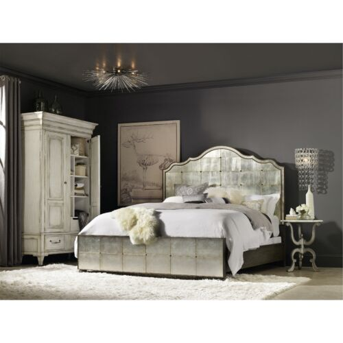 Hooker Furniture Arabella King Mirrored Panel Bed