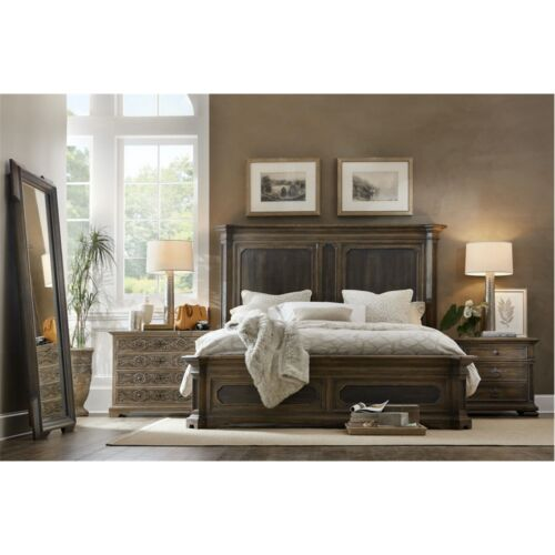 Hooker Furniture Hill Country Woodcreek California King Mansion Bed