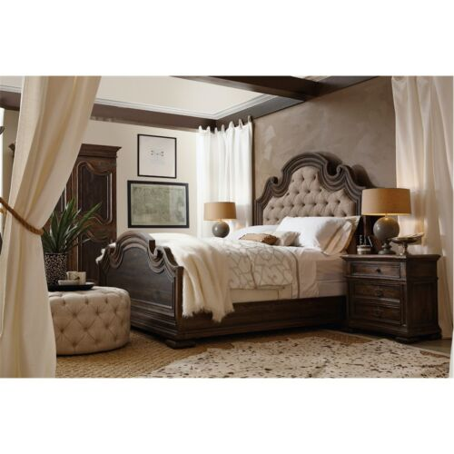 Hooker Furniture Hill Country Fair Oaks King Upholstered Bed