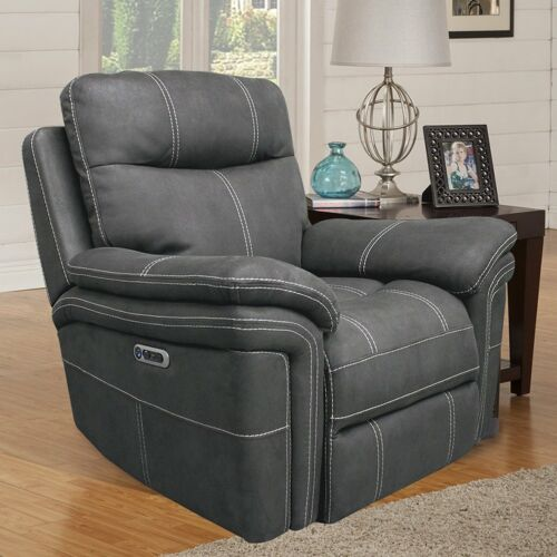 Parker Living Mason Power Recliner in Charcoal