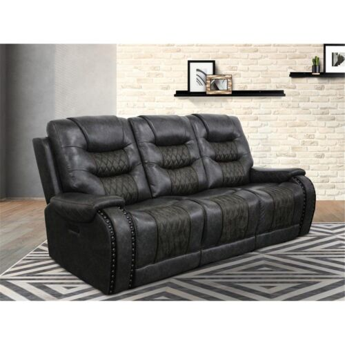 Parker Living Outlaw Power Drop Down Console Sofa in Stallion