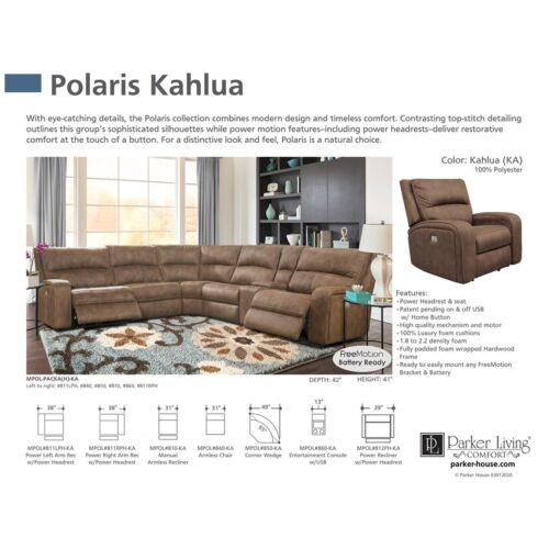 Parker Living Polaris Power Sofa in Kahlua